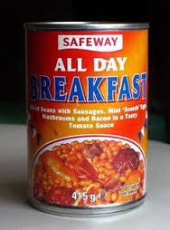 The ultimate solution to the breakfast dilemma:  the All Day Breakfast in a can! (Photo Credit:  www.pinterest.com)