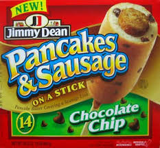Nothin' like Chocolate Chip Pancakes & Sausage on a Stick to kick start your day! (Photo Credit:  www.junkfoodblog.com)