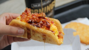 Taco Bell's new breakfast waffle? (Photo Credit:  www.ktla.com)