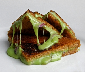 Doesn't this just make your mouth water?  A wasabi cheese sandwich.  (Photo Credit:  www.buzzfeed.com)