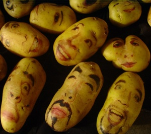 Potatoes as art (Photo Credit:  poppypetunia.blogspot.com)