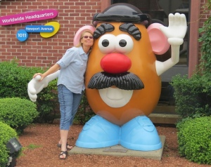 Most kids, like me, had a Mr. and Mrs. Potato Head toy (Photo Credit:  justalittlefurther.com)