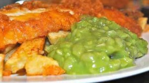 Mushy peas, an English favourite (looks appetizing, doesn't it?) (Photo Credit:  www.youtube.com)