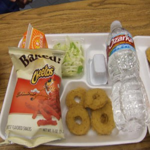 A school lunch from a school in the US (Photo Credit: www.huffingtonpost.com)
