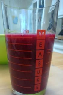 Measure the liquid (see recipe)
