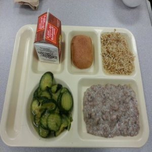 Take a guess: school lunch or prison food? (Photo Credit: www.thechive.com)