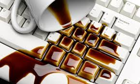 Spilling coffee on your laptop is even worse! (Photo Credit: www.theguardian.com)