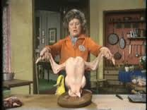 Anyone who used to watch Julia Child cook will remember her dance with the turkey! (Photo Credit: www.thecookinmama.com)