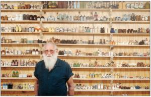 This gentleman has 5,000 salt shakers (Photo Credit: www.christinacooke.com)