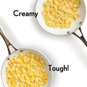 Nothing worse than rubbery eggs! (Photo Credit: www.cookinglight.com)