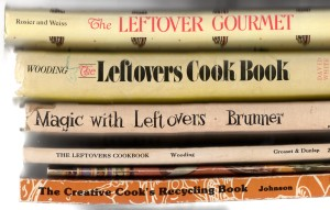"Some of the ""leftover"" cookbooks in my collection."