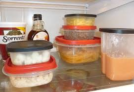 The commingling shelf in a refrigerator. (Photo Credit: www.manvsdebt.com)