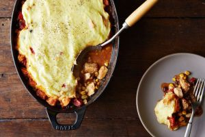 A leftover turkey tamale pie. Good example of commingled cooking (Photo Credit: www.food52.com)