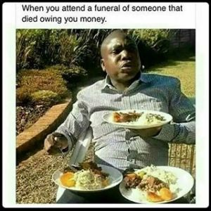 How many plates you have at a post-funeral reception may depend on your relationship with the deceased (Photo Credit: www.ink361.com)