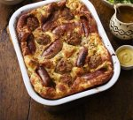 """Good ole' """"Toad in the Hole"""" (Photo Credit: www.bbcgoodfood.com)"""