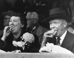 Dwight Eisenhower enjoyed fast food on occasion, but somehow, Mamie makes it look classy! (Photo Credit: www.reddit.com)