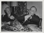 Franklin Delano Roosevelt carving the Thanksgiving Turkey (evidently not the one that was pardoned!) (Photo Credit: www.dailysignal.com)
