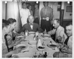 Harry Truman sitting down to a cozy meal (Photo Credit: www.pinterest.com)