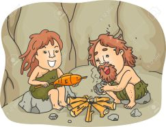 """""""Cooking sure relieves the stress from hunting Mammoths all day!"""" (Photo Credit: www.123rf.com)"""