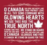 """The national anthem of Canada, """"Oh, Canada"""" (Photo Credit: www.pinterest.com)"""