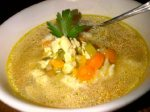 """""""Faux chicken soup"""" Is it still good for colds, even if it has no chicken in it? (Photo Credit: www.thecomfortingvegan.com)"""