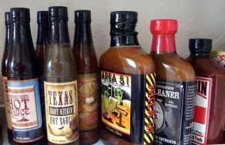 My collection of hot sauces