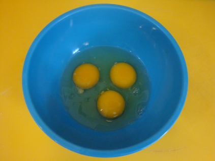 Guess what? 3 eggs!